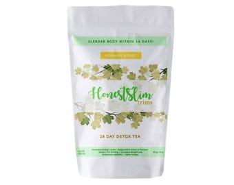 Honestslim 1 Month Detox Tea- Morning Tea- 100% Organic Weight Loss, Boost Energy, Improve Immunity and Digestive Discomfort Relief.