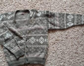 Vintage jantzen cardigan sweater 80s M medium