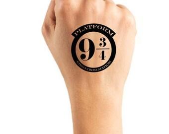 Hogwarts Express - Harry Potter, Temporary Tattoo, Fake Tattoo, Harry Potter Gift, Harry Potter Tattoo, Gift, Harry Potter Party, Tattoo