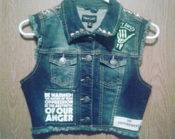Studded vest with patches: Motorhead