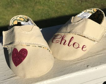 Personalized Canvas Slip On Shoes, Personalized Shoes, Baby Shoes, Canvas Shoes, Shoes, Personalized Baby Shoes, Slip On Shoes