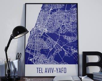 Tel Aviv-Yafo Map Tel Aviv Travel Map Tel Aviv Street Map Tel Aviv City Map Tel Aviv Map Poster Tel Aviv Map Photo Tel Aviv Map Print
