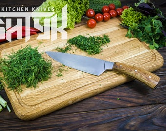Chef knives, Kitchen knives, Cook's knife, Utility knife, Vegetable knife, chef gifts, cutting tool, santoku, Gift for dad