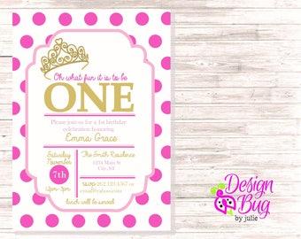 First Birthday Princess Invite