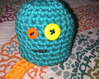 Crocheted Monster Paci Holder