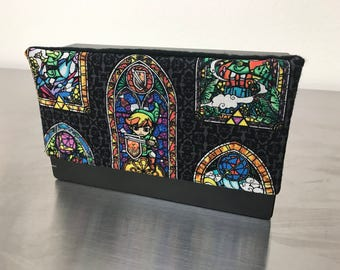 Nintendo Switch Dock Cover (Zelda Stained Glass Design)