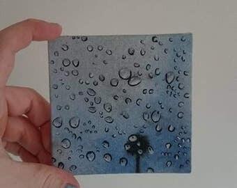 "Original Oil Painting Artwork // ""Droplets"""