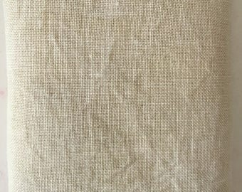 Hand-Dyed 32-count Belfast Linen - Parchment Colorway