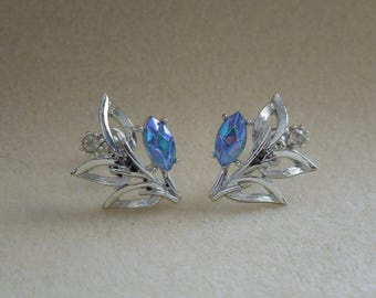 rhinestone earrings vintage signed Coro
