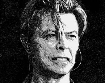 David Bowie, fabric / sewing / upholstery / craft supplies / cushion / cushions