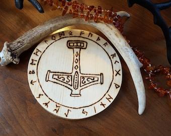 Mjolnir Thor's Hammer Altar Tile