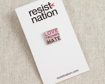 Love Trumps Hate Lapel Pin