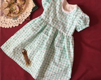 Daisy Green Girls Clothing Girls Spring Summer Dress 3T 3 Short Sleeve Dress Girls Dresses For Girls Little Girls Clothing Toddler Dress 3T