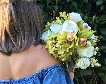 Wedding Bridal Bouquet Silk Flowers Arrangements Decorations Artificial Flower Bouquets