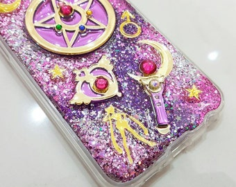 Sailor Moon case for iphone 6/6 plus/7/7 plus/8 plus/iphone x/samsung galaxy s6/s6e/s7/s7e/s8/s8plus/note 4/note 5/A9/J7/zenfone/huawei ETC.