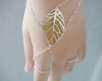 Resin Leaf Chain Slave Bracelet