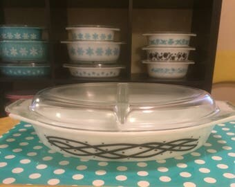 Pyrex Barbed Wire Promotional Casserole Dish w/lid