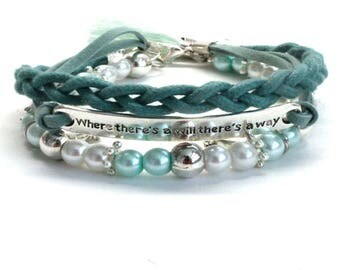 Three-part women's bracelet