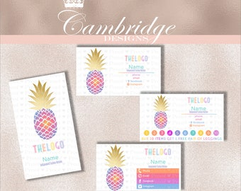 Golden Top Pineapple Inspired By LuLaRoe Business Cards - Home Office Approved Fonts and Colors Business Card, Digital