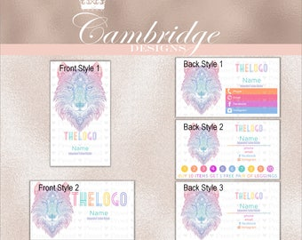 Wolf Inspired By LuLaRoe Business Cards - Home Office Approved Fonts and Colors Business Card, Digital
