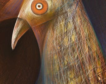 Two-Edged-Bird. Digital Artwork - one out of ten numbered Originals.