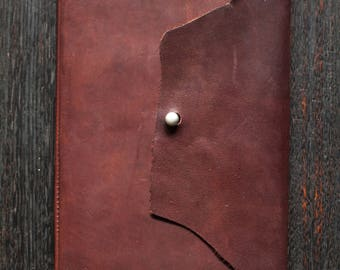 A5 Leather Yearly Planner (2017) - Kangaroo Leather (Chocolate Brown)