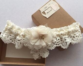 Ivory Wedding Lace Garter