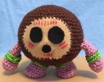 """Plush Crocheted Kakamora - From Disney's """"Moana"""""""