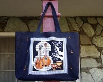 Music Tote Shopping Bag