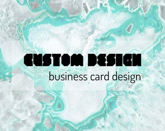 Custom Business Card Design, Unique Business Card, Business Card Graphic Design