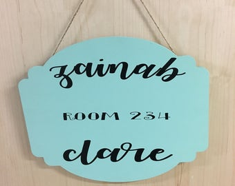 Hanging Door Sign