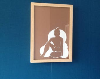 Cutting Paper Art - Ethnic woman (1)