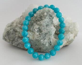 Pearl Bracelet 8 mm aquamarine