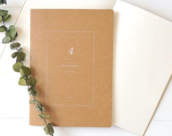 A5 Kraft Notebook[Dotted] / Stitch Notebook / 11-n
