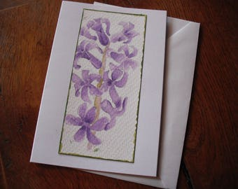 Original Water Colour  Botanical study.  Card with envelope (1 off)