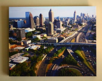 Atlanta's skyline from the sunny north end canvas