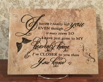 I Haven't Really Left You - Condolence Tile