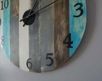 Large Custom Wooden Clock