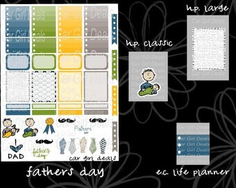 Fathers Day stickers are perfect for Happy Planner, Kikkik, Erin Condren Life Planner, Plum Paper, Filofax or any other planner in your life