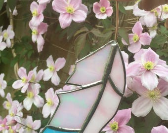 Collectible stained glass feather
