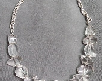Rock Crystal and Sterling Silver Necklace