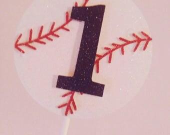 Baseball cake topper, 1st birthday smash cake topper, baseball birthday