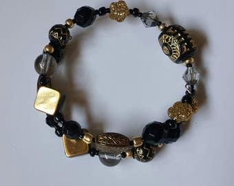 Black & Gold Memory Wore Bracelet