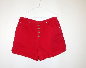 High Waisted Shorts / Gitano Jeans / Made in Mexico / Size 14