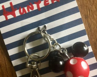 Mickey Mouse keychain, Disney fish extender, personalized fish extender