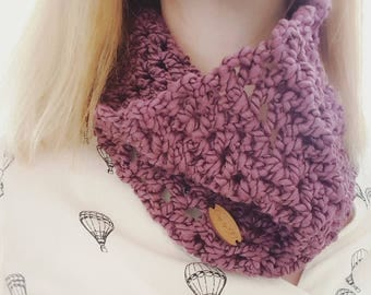 Infinity Scarf Cowl Crochet - Wine, gifts for her