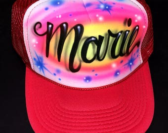 Airbrush Trucker Hats, All Occasion Airbrush Hats
