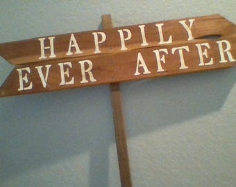 Happily EverAfter Wedding Sign