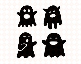 cute ghost svg vector