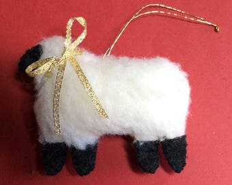 Hand-stitched Sheep Ornament